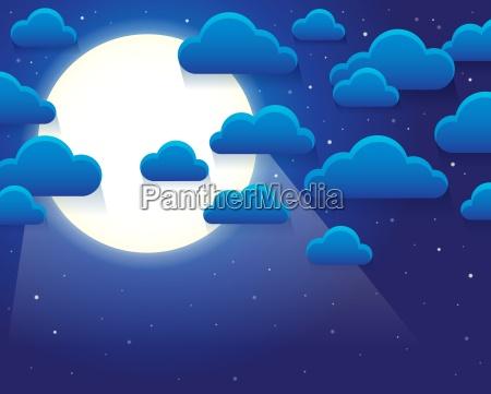 nachthimmel mit stilisierten wolken thema 1