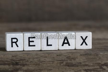 relax written in cubes