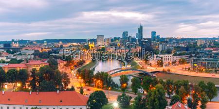 panorama neues zentrum von vilnius litauen