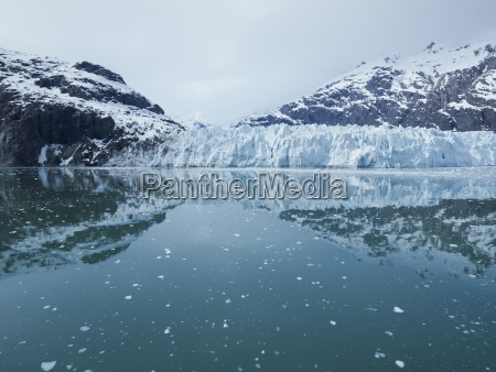 panoramic view of the margerie glacier