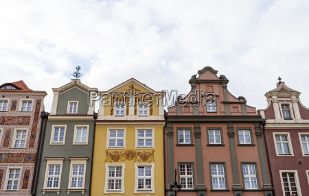 historic facades on the market square