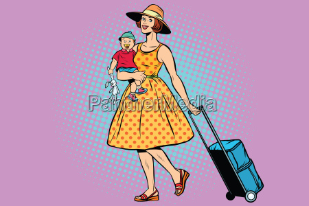 mom traveler with a child