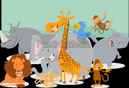 safari tierfiguren gruppe
