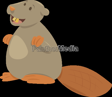 cartoon beaver animal character