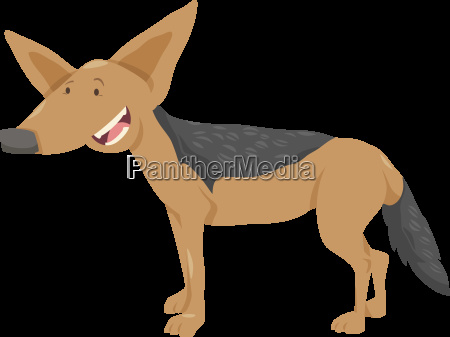 jackal cartoon animal character