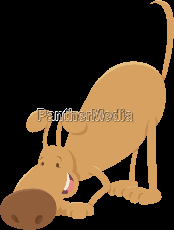 sniffing dog cartoon character