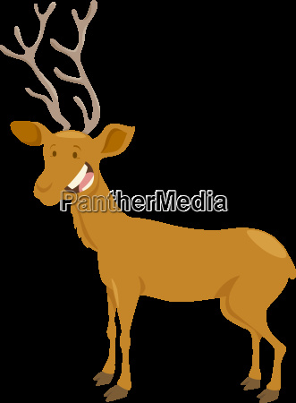 deer cartoon animal character
