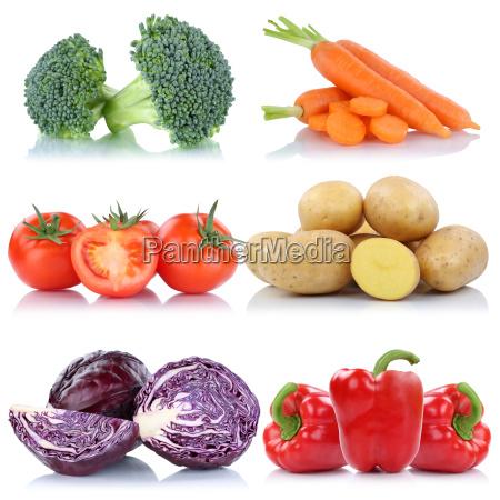 vegetable tomato isolated potatoes carrots carrots