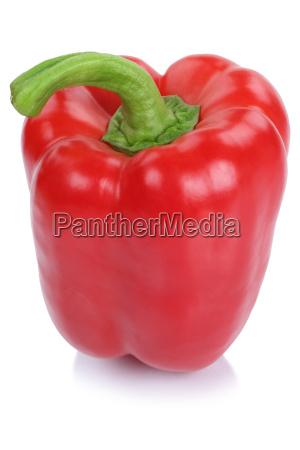 paprika rot frisch gemuese seitlich freisteller