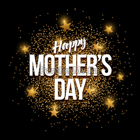 happy mothers day golden glitter background