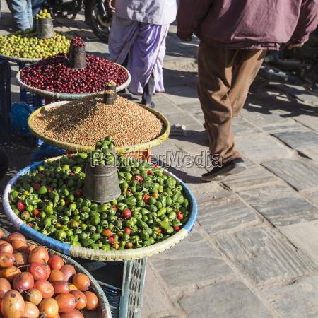 lokaler markt in nepal