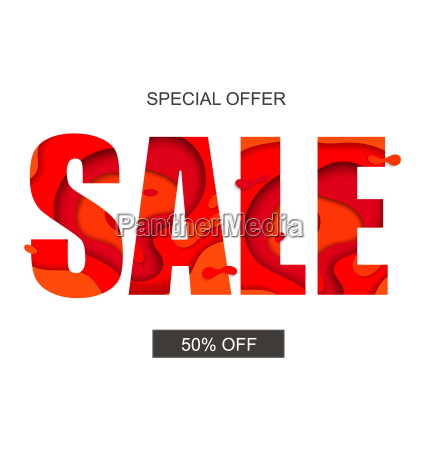 sale banner with special offer vector