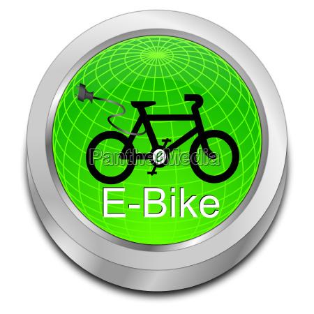 glaenzend gruen e bike button