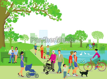people recover in the park