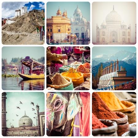 collage of india images reisehintergrund meine