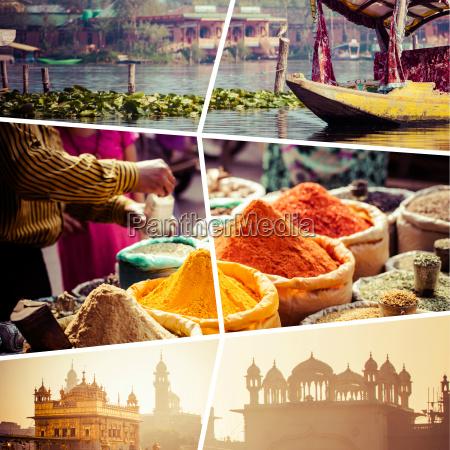 collage von indien bilder reise