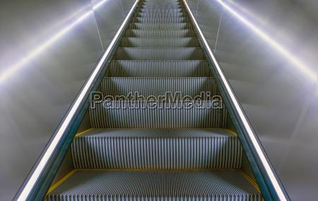 close up escalator in subway