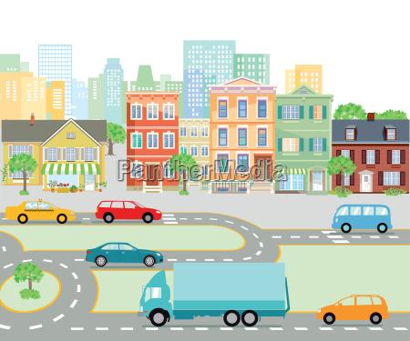 road traffic in the citytransport illustration