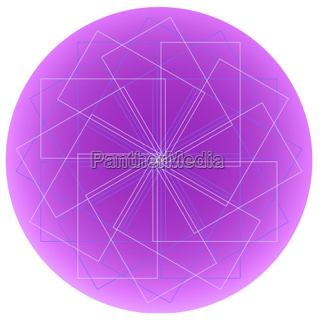 abstract dream catcher design isolated