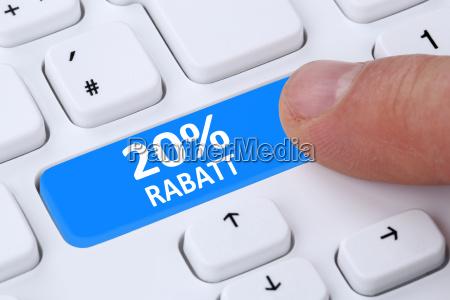 20 twenty percent discount button action