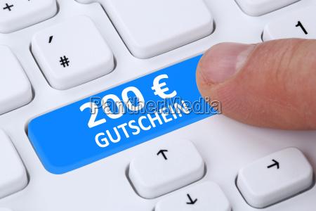 200 euro gutschein geschenk rabatt online