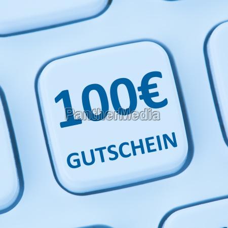 100 euro voucher gift discount online