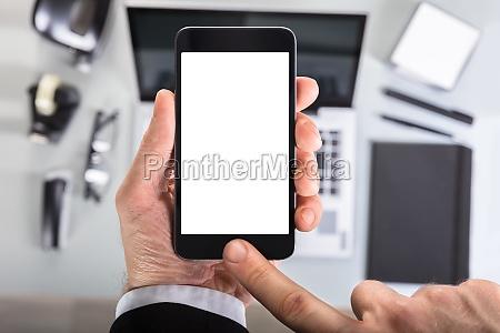 handanzeige smart phone bildschirm