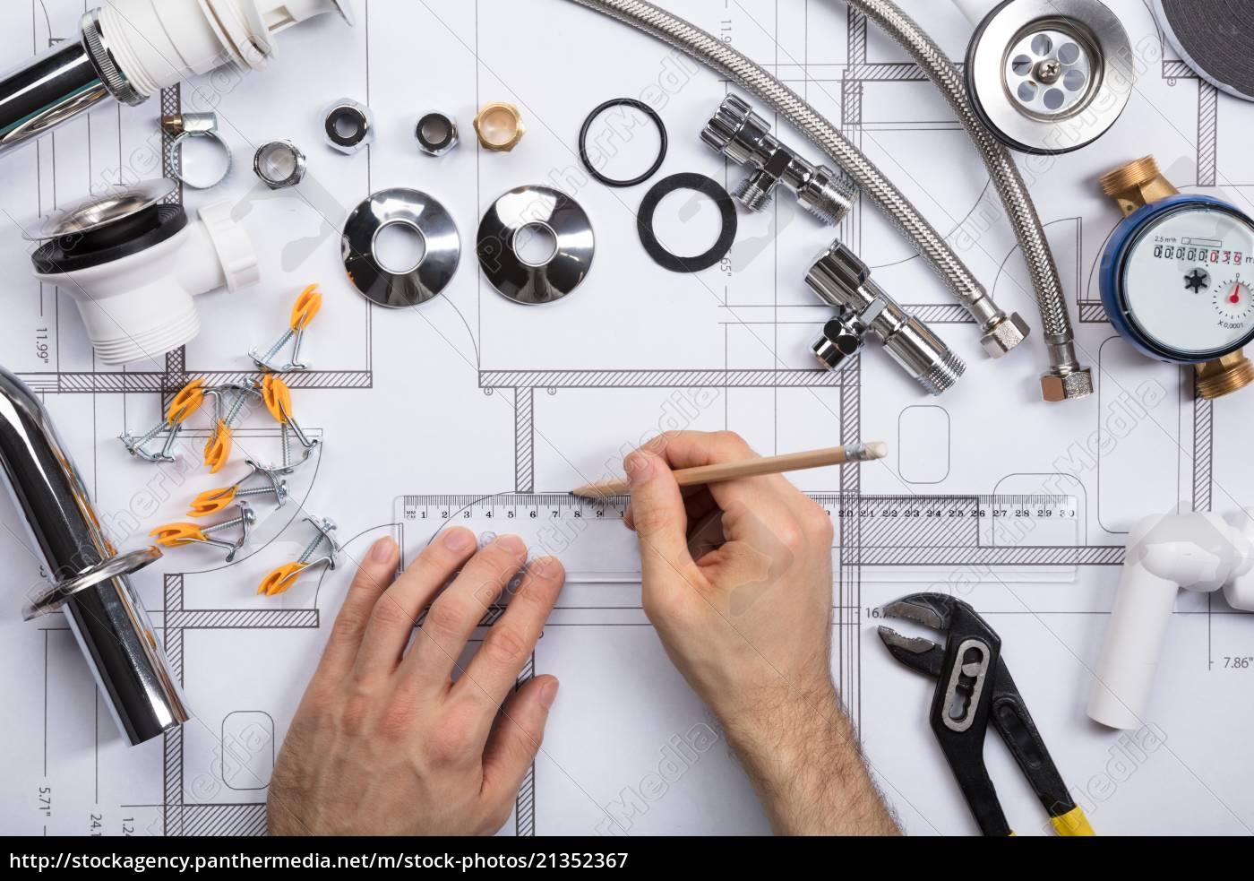 ein, architekten-zeichnungsplan, auf, blueprint - 21352367