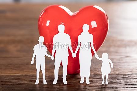 familie, gesundheit, konzept, auf, holz, schreibtisch - 21352087