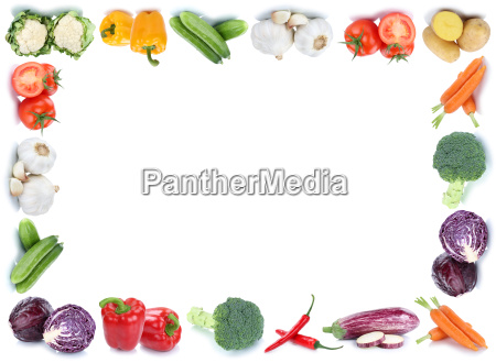 vegetable frame text free space copyspace