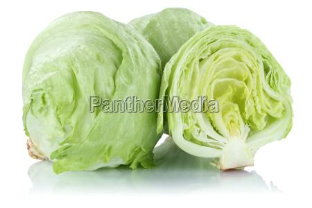 eisbergsalat salat geschnitten frisch gemuese freisteller