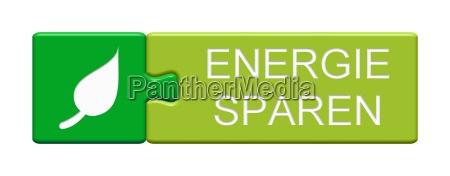 puzzle button zeigt energie sparen