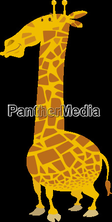 cartoon giraffe animal character