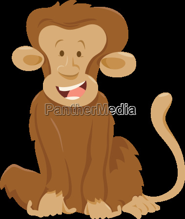 funny monkey animal character