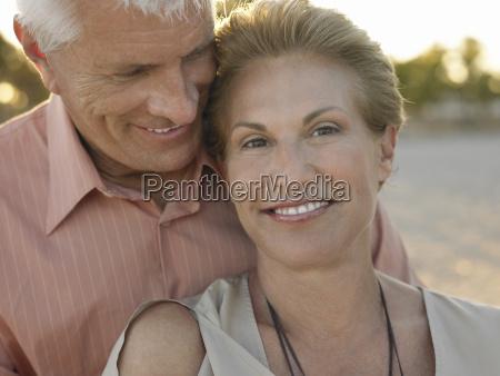 senior couple spending romantic time on