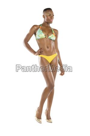 full length of woman swimwear with