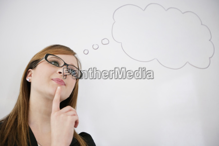 young woman thinking about future pay