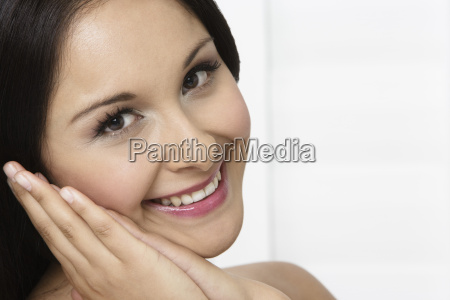 young beautiful woman smiling