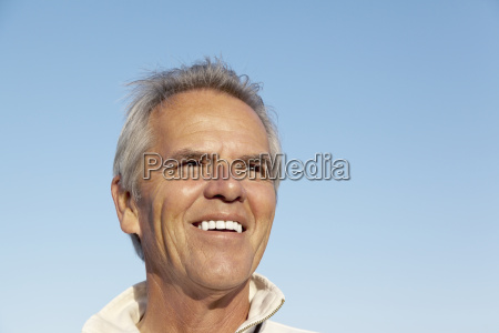 portrait of a happy mature man