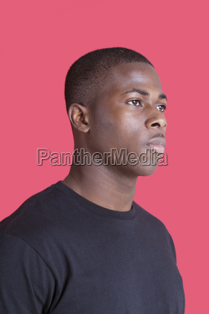 serious african american young man looking