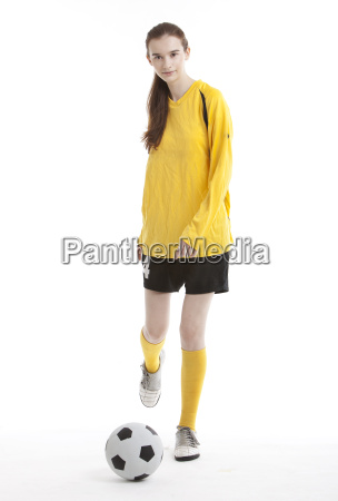 portrait of young female soccer player
