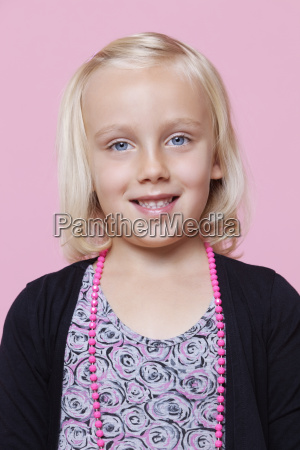 portrait of a happy young girl