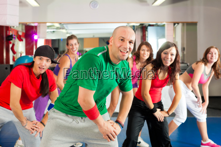 fitness zumba dance workout in