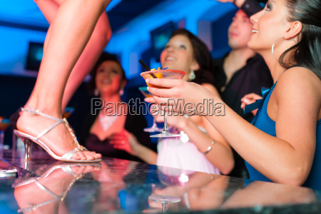 woman in bar or club is