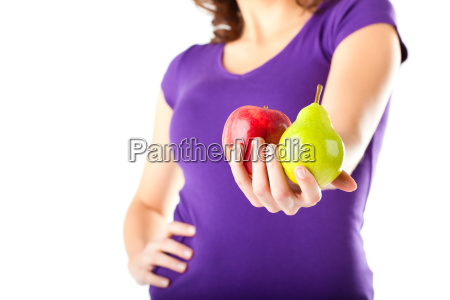 healthy diet woman with apple