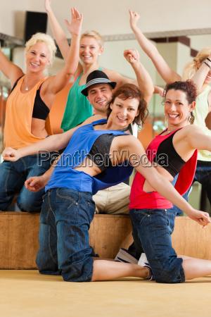 zumba or jazzdance young people