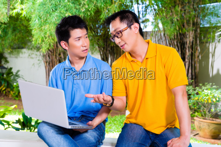 chinese father and asian son at