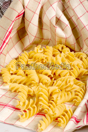 pasta in a towel on a