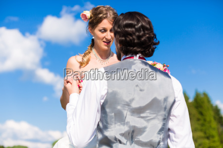 groom begging bride for mercy after