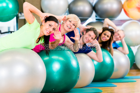 sport and fitness in gym